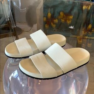 White Leather Sandals by Vince size 8B